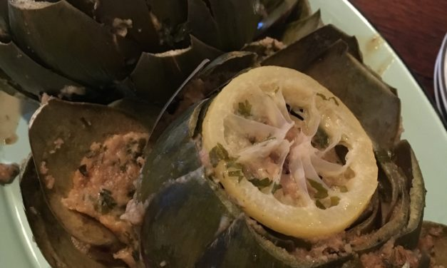 Lemony Stuffed Artichokes